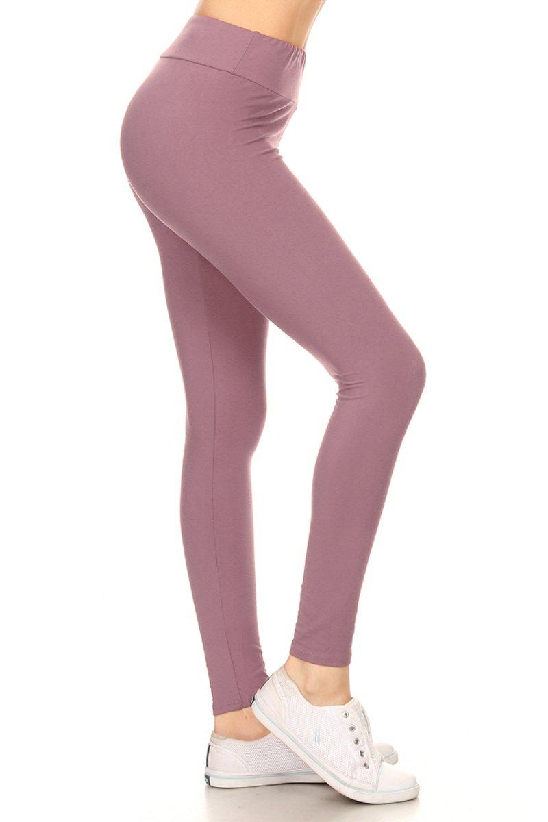 Leggings Depot Higher Waist Women's Buttery Soft Solid Yoga Leggings 22+Colors