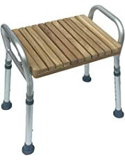Shower Stool Height Adjustable Bath Seat Bench with Safety Handle to Sitting in Bathtub for Elderly Disabled Pregnant Women Shower Chair Aluminum Legs