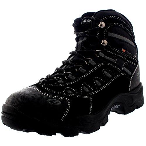 Bandera Black Boots - Mens Hi-Tec Bandera Winter 200 Hiking Waterproof Walking Ankle Boots - Black/Charcoal - 8