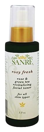 SanRe Organic Skinfood – Rosy Fresh – Organic Rose and Green Tea Revitalizing Facial Toner For All Skin Types