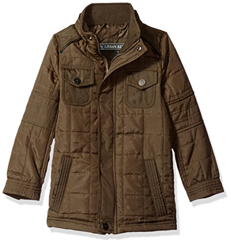 - Urban Republic Boys Thinfill Quilted Jacket, Olive 10/12