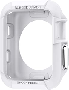 Spigen Rugged Armor Compatible with Apple Watch Case for 38mm Series 3/Series 2/1/Original (2015) - White
