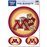 Minnesota Golden Gophers Official NCAA 11''x17'' Car Magnet 3-Pack Set by Wincraft