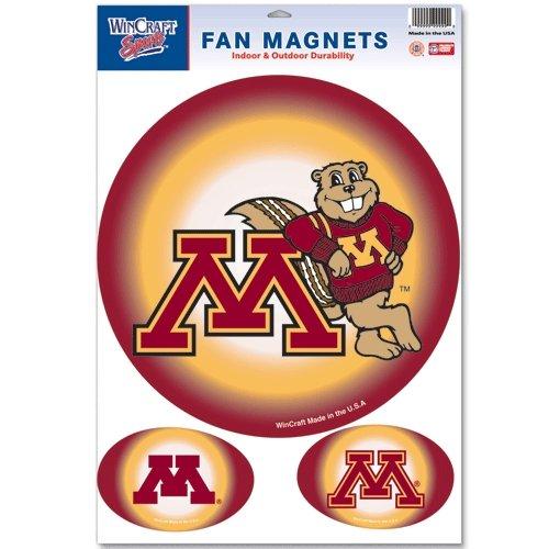 Minnesota Golden Gophers Official NCAA 11x17 Car Magnet 3-Pack Set by Wincraft