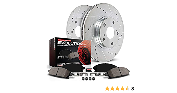 Power Stop K5984 Rear Z23 Evolution Brake Kit with Drilled//Slotted Rotors and Ceramic Brake Pads