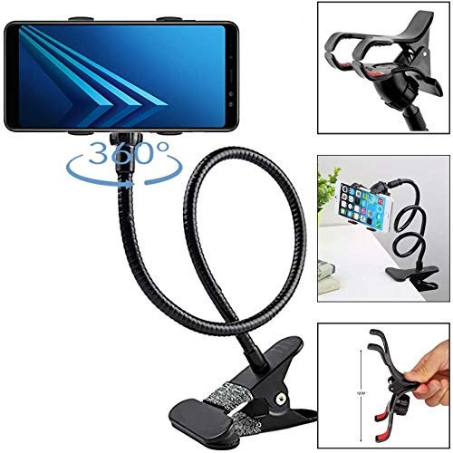 Ceuta Retails® Metal Lazy 360-degree Rotating Flexible Long Arms Mobile Phone Holder Mount,Lazy Hands Free Clip-on…