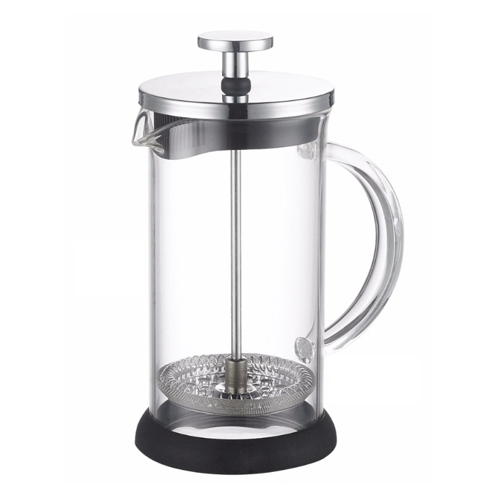 ALIXIN-10022 French Press Coffee Maker,Micro Mesh Plunger Presser Filter for Ground Espresso or Tea,Clear Strong Borosilicate Glass Tea & Coffee Brewer with Bonus.【600ML】