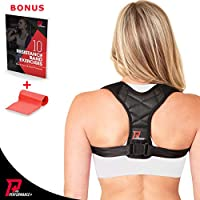 PRO PERFORMANCE+ Posture Corrector | Clavicle Support For Upper Back Neck & Shoulders | Corrects Bad Posture | Fully...