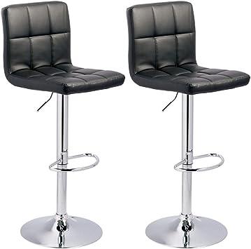 Amazon Com Signature Design By Ashley Bellatier Adjustable Height Bar Stool Black Chrome Finish Furniture Decor