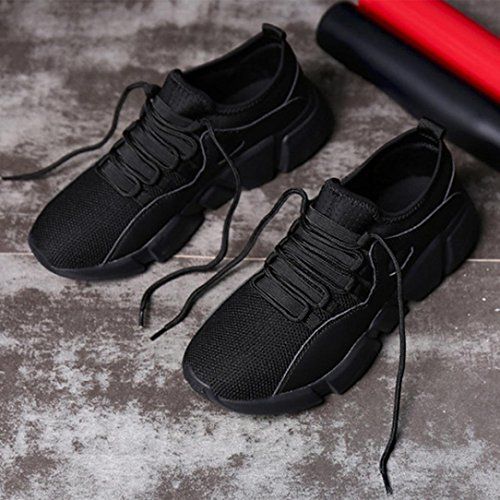 Fashion Round Leisure Men Casual Strap Black Toe Breathable Cross Running Mesh up Lace Shoes Sneakers HLHN Sport Gym PHdZxaRRqw