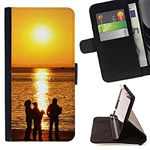 DEVIL CASE - FOR Samsung Galaxy S6 - Sunset Beautiful Nature 118 - Style PU Leather Case Wallet Flip Stand Flap Closure Cover