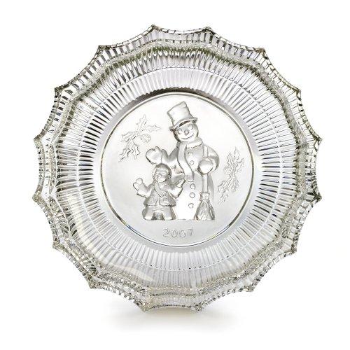 - Waterford Crystal Christmas Wonders Jolly Snowman Plate