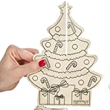 Factory Direct Craft Group of 12 Ready-to-Decorate Wood Standing Christmas Tree Kits for Crafting and Creating