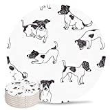 Absorbent Coaster for Drinks with Cork Jack Russell