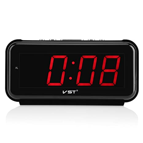 Amazon com: 220V Electronic Table Digital Alarm Clock Desktop Large