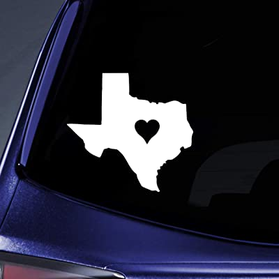 """Bargain Max Decals - Texas Love State Sticker Decal Notebook Car Laptop 5"""" (White): Automotive"""