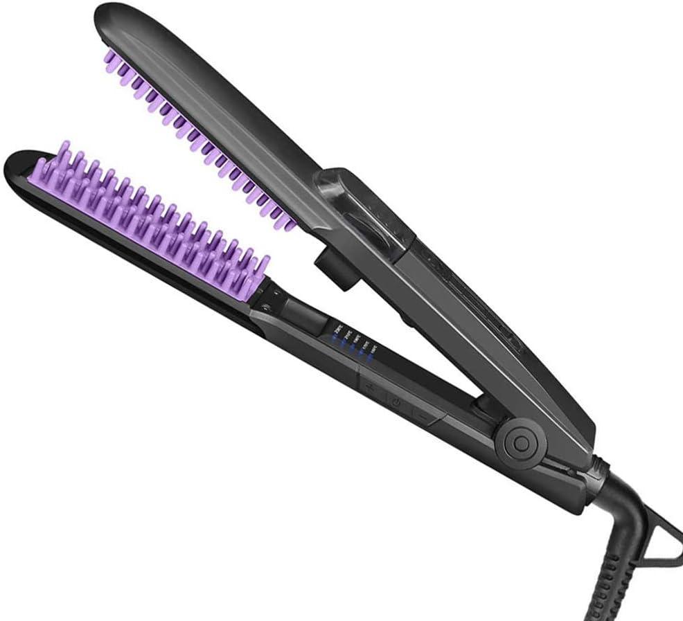 Hair straightener Cepillo para Alisar el Cabello al Vapor Cepillo de cerámica para Calentar el alisador para el Cabello - 24 temperaturas