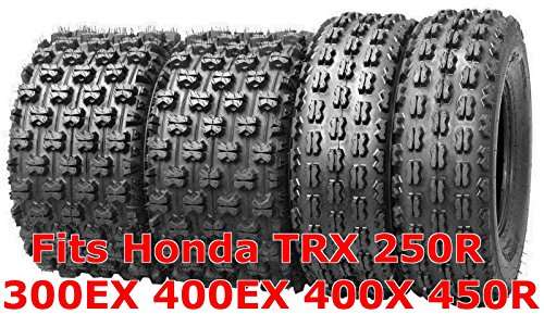 (4 WANDA ATV Race tires 22x7-10 & 20x10-9 Honda TRX 250R 300EX 400EX 400X 450R)