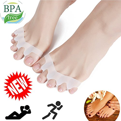Toe Separators, Toe Stretchers, Toe Separators Stretchers, Gel Rubber Silicone Toe Spacers, Hammer Straighten Correct Bunion Pain Toe, Shoe Stretcher House Shoes for Women and Men DIYIJIA