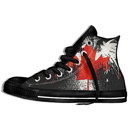Baskets Montantes Classiques Chaussures De Toile Anti-dérapant Aigle Canada Casual Marchant Pour Hommes Femmes Noir