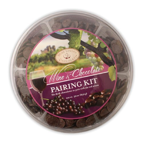 Wine & Chocolate Pairing Kit Six Dark Chocolates To Pair With Six Red Wines 30 Oz Party Pack Or Gift Set