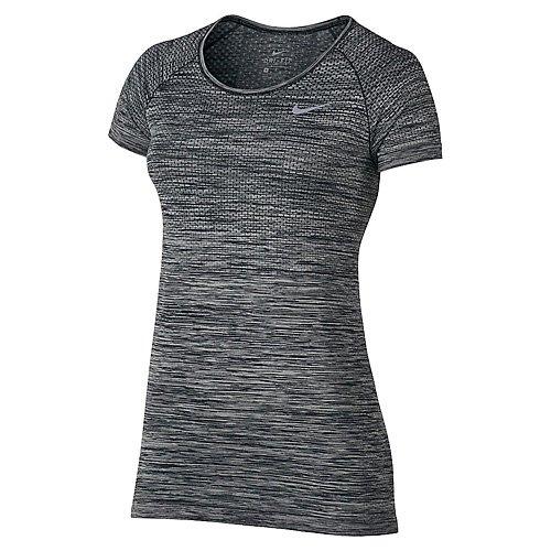 (Women's Nike Dry Knit Short sleeve Top, Large, (Paramount Blue/Vivid Sky))