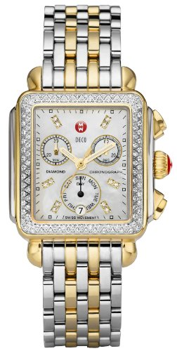 Michele MWW06P000108 Watch Deco Day Ladies - White MOP Dial ()