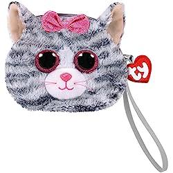 TY Gear Beanie Boos KIKI The Grey Cat - cartera con correa