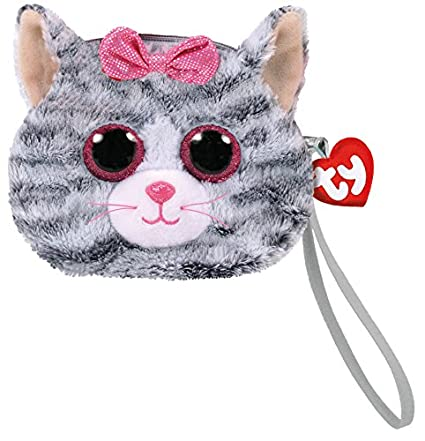 430282d73dd Amazon.com  TY Gear Beanie Boos KIKI the Grey Cat Wristlet Coin Purse with  Strap  Toys   Games