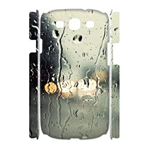 3D Samsung Galaxy S3 Case,Rain of Glass Hard Shell Back Case for White Samsung Galaxy S3