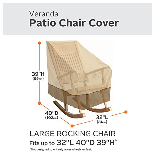 Classic Accessories Veranda Patio Rocking Chair Cover - Durable and Water Resistant Patio Set Cover, Large (55-624-011501-00) by Classic Accessories (Image #2)
