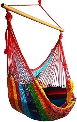 Hammocks Rada- Handmade Yucatan Hammock Chair – Multicolor – True Comfort, True Quality, World s Best Handmade Hammock Chair- 100 No-Hassle Satisfaction Guarantee