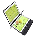 Manager Panel - Folding Magnetic Piece Football Sandbox Board Tactical Plate Tactic Book Set Pen Teaching Clip - Card Handler Table Private Instructor Display Omnibu Motorcoach - 1PCs