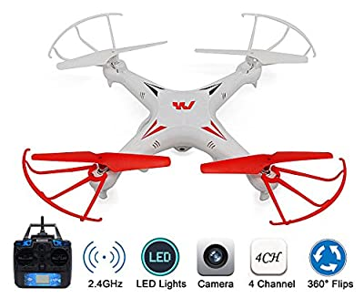 KELIWOW 2.4GHz 4CH 6-Axis Gyro RC Quadcopter Drone Explorers with Camera RTF by KELIWOW