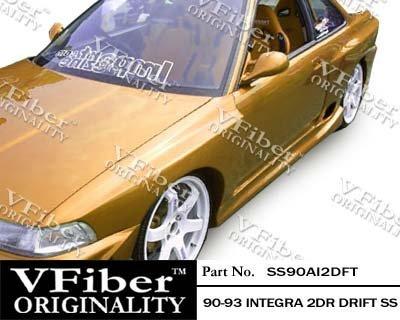 (1990-1993 Acura Integra 2dr Body Kit Drift Side Skirt)
