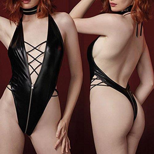 Moda Sleepwear 1 Intimo abbigliamento Sexy Bandag Spice Mussola Familizo Capi Intimo di Donna Nero Tentazione Fami qOzzIwZA
