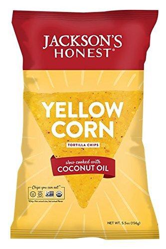Jacksons Honest Chips, Chips Tortilla Yellow Corn Coconut Oil Organic, 5.5 Ounce