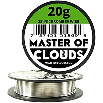Nichrome 80 25 ft 20 gauge awg resistance wire 081mm 20g 25 nichrome 80 25 ft 20 gauge awg resistance wire 081mm 20g 25 greentooth Images