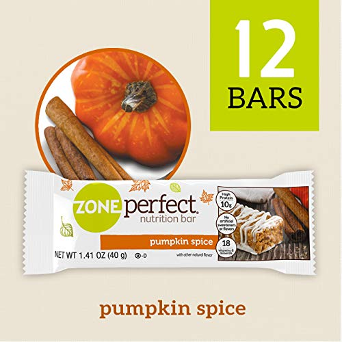 ZonePerfect Nutrition Snack Bars, 10g high-Quality Protein, Limited Edition Pumpkin Spice, 1.41 oz, - Bar Flavored