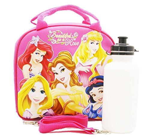 Hot Disney Princesses (Disney Princess Lunch Bag with a Water Bottle - Hot Pink by N/A by Unknown)