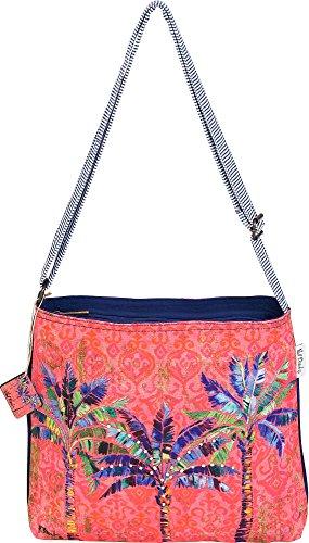 Crossbody Size One Handbag multi Brent Pink Paul Palm Tree wpqFgxWzt
