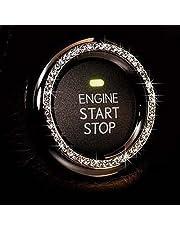 Crystal Rhinestone Car Bling Sticker Ring Emblem, Auto Start Engine Ignition Key & Button Bling, By Bling Car Decor (Silver) by Bling Car Decor