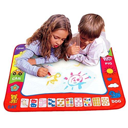 Theshy アクアードル 子供用 お絵かきおもちゃ マット マジックペン 教育玩具 1マット + 2ウェイトマジカルウォーターキャンバス   B07JBHJX45