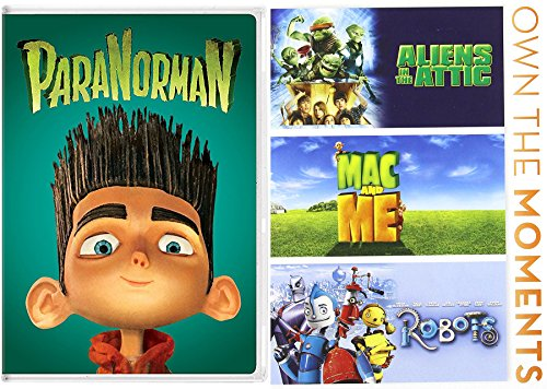 Aliens Robots Ghosts 4 Animated Favorites Mac and Me / ParaNorman / Aliens in the Attic / Feature DVD Cartoons Movie Animated Family pack