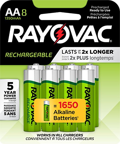 (RAYOVAC AA 8-Pack RECHARGEABLE Batteries, LD715-8OP GENE)