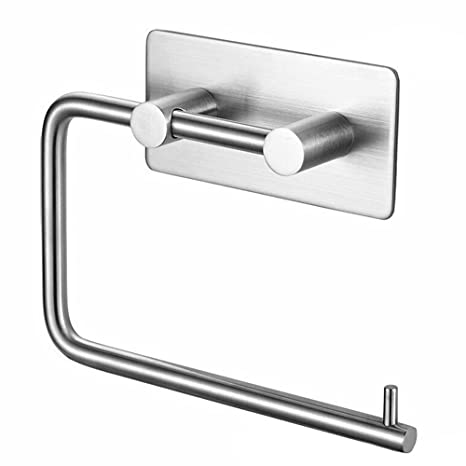 adhesiva para papel higiénico 304 Acero inoxidable toallero baño hardware rollo de papel toalla rack Hanger