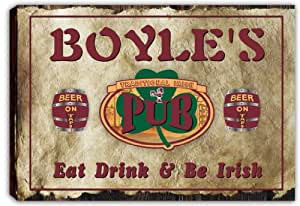 scpa1–1989Boyle del Irlandés shamrock Pub Bar cartel de impresión de Lienzo