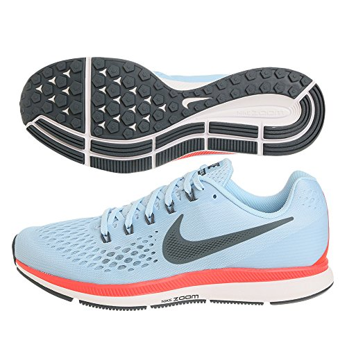 Nike Mens Zoom Air Pegasus 34 Scarpe Da Corsa, Luce Nera / Rosso Blu