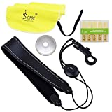 LADE 4-in-1 Alto Saxophone Sax Accessory Kit Belt Cleaning Cloth Reed Aluminum Mute