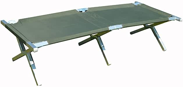 Home Outdoor/Folding Bed Outdoor Napping Camping Aluminum Bed Load Bearing 125 Kg Progressive Bed (Color : Green)